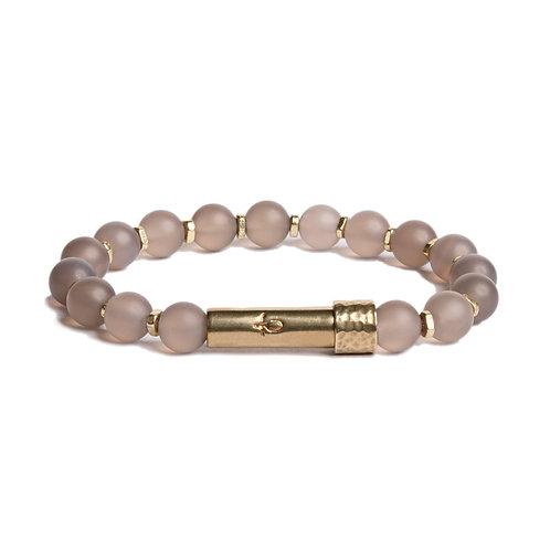Matte Grey Agate- Shine Wish Bracelet