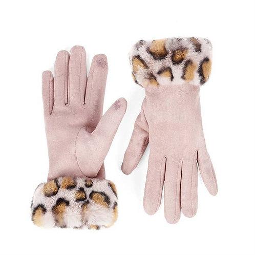 Blush Faux Fur Gloves