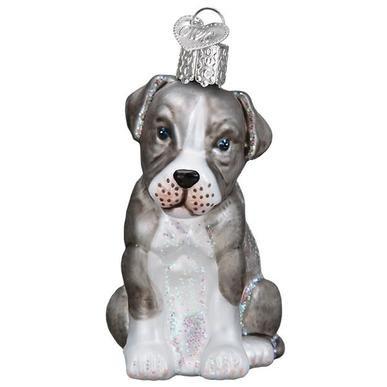 Pitbull Pup Ornament
