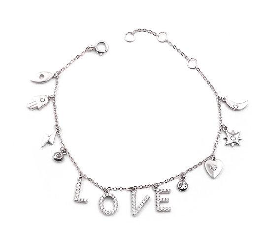 Love + Luck Charm Bracelet