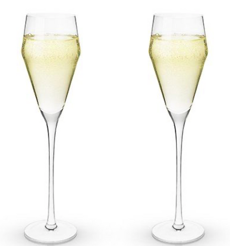Angled Crystal Prosecco Glass