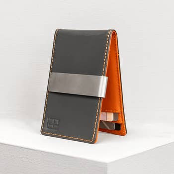 Soho Charcoal and Rust Money Clip Wallet