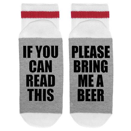 Mens Bring Me a Beer Sole Sock