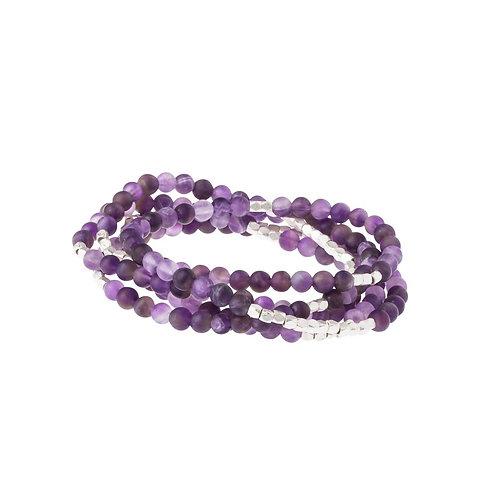 Amethyst Stone Wrap Bracelet