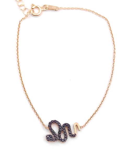 Pave Snake Bracelet