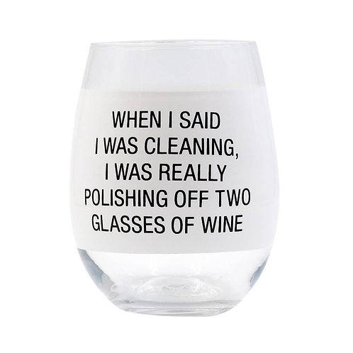 Polishing Off Wine Glass