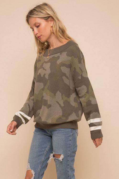 Camo Stripe Sweater