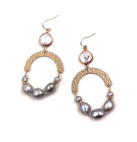 Freshwater Pearl Inca Earring