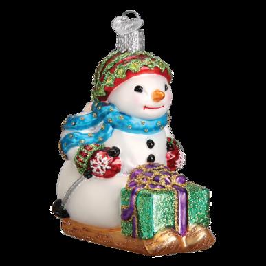 Snowman on Skis Ornament