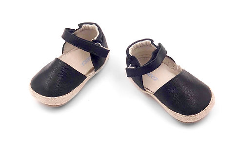 Black Mary Jane Baby Shoe