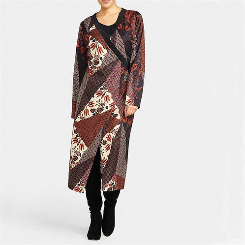 Printed Kimono Wrap Dress