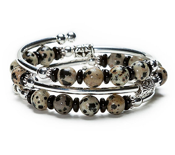 Jasper Spiral Bracelet