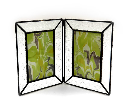 Double 4 x6 Embossed Glass Frame