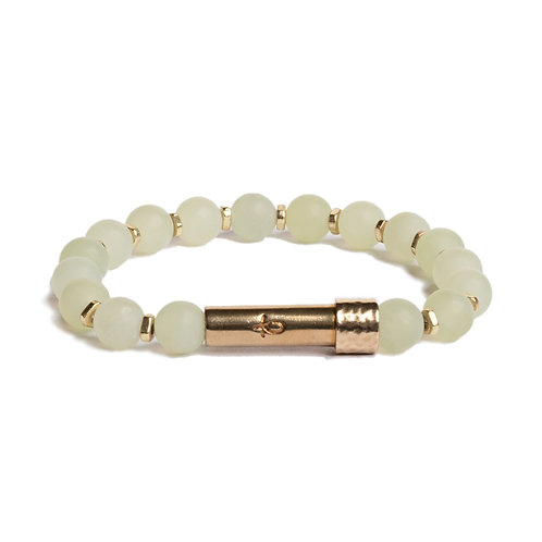 Matte Light Jade-Shine Wish Bracelet