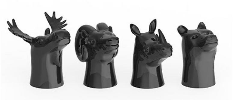 Ceramic Animal Head Glasses