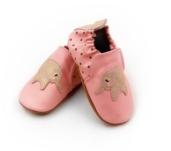 Pink Elephant Baby Shoe 12-18 Month