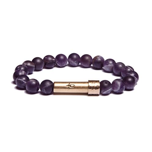 Matte Amethyst Wish Bracelet
