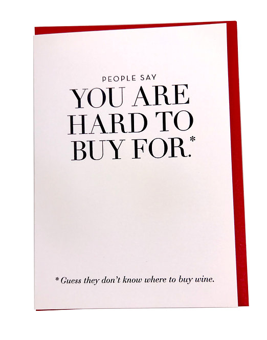 Hard To Buy For Card