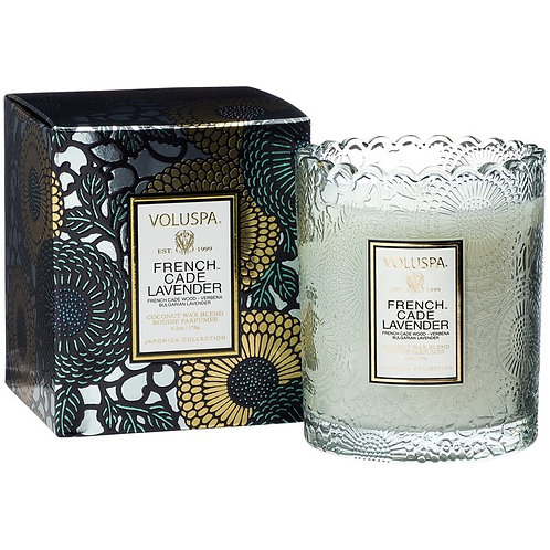 Box French Cade & Lavender Candle