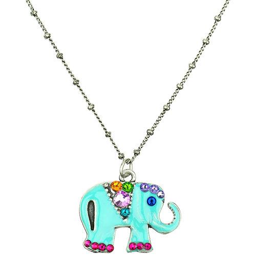 Elephant Necklace Swarovski® Crystal