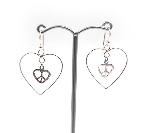 Fill My Heart with Peace Earring