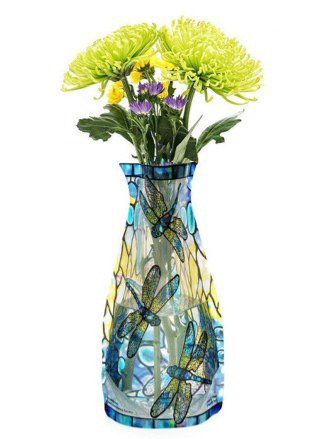 Tiffany Dragonfly Collapsible Vase
