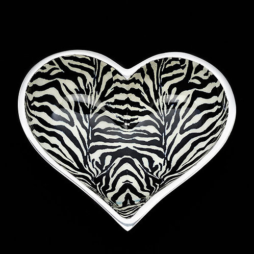 Zebra Heart Candy Dish
