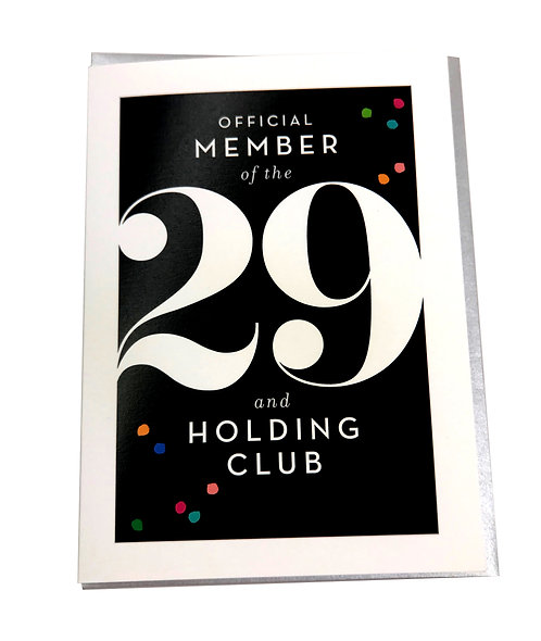 29 and Holding Card