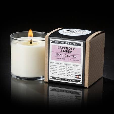 Lavender Amber Massage Candle