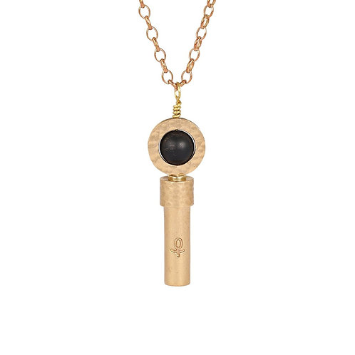 Matte Black Onyx Wish Necklace
