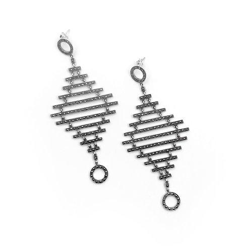 Marcasite Flapper Earrings