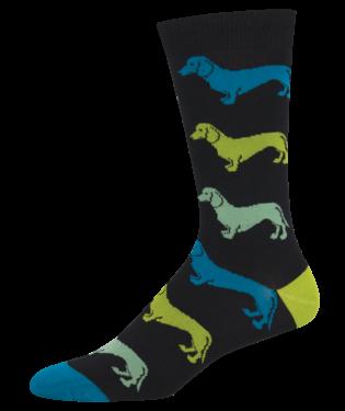 Men's Dachshund Socks Black