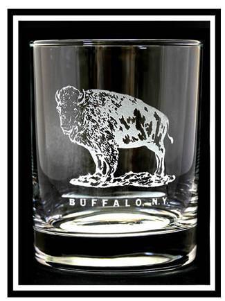 Buffalo Standing Rocks Glass