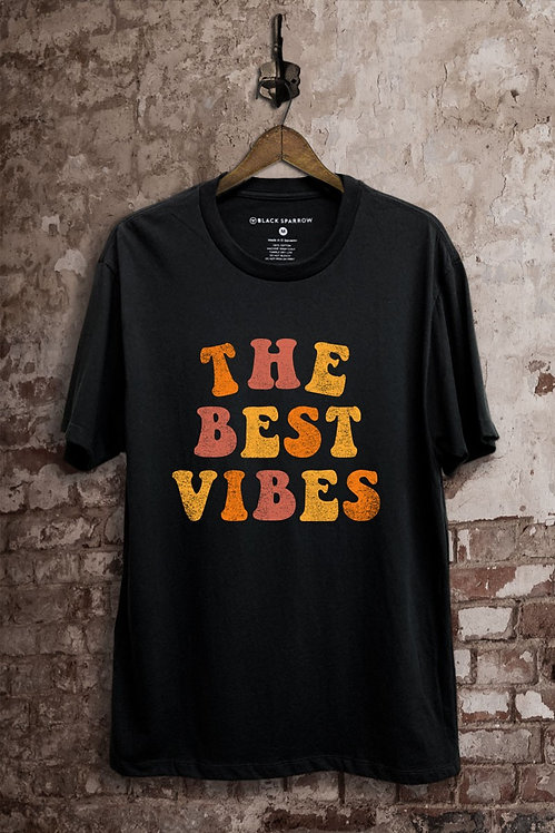 The Best Vibes Tee Shirt Black