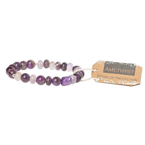 Amethyst Stone Bracelet - Stone of Protection