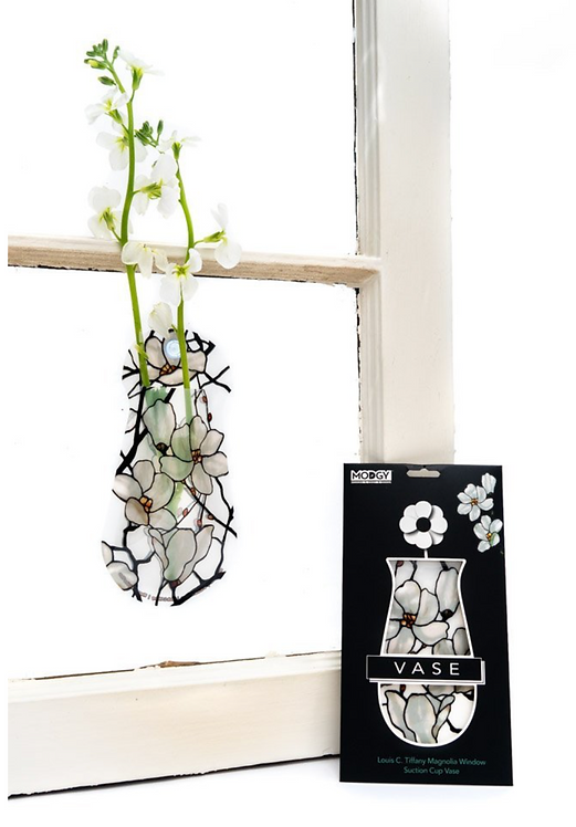 Louis C. Tiffany Magnolia Window Suction Cup Vase