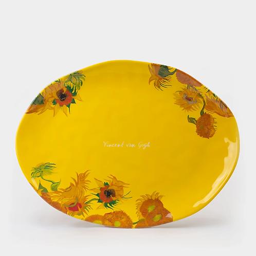 Oval Van Gogh - Sunflower Melamine Platter
