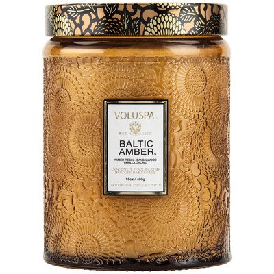Tall Baltic Amber Candle