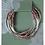 Thumbnail: Mauve Combo Silver Wrap Bracelet