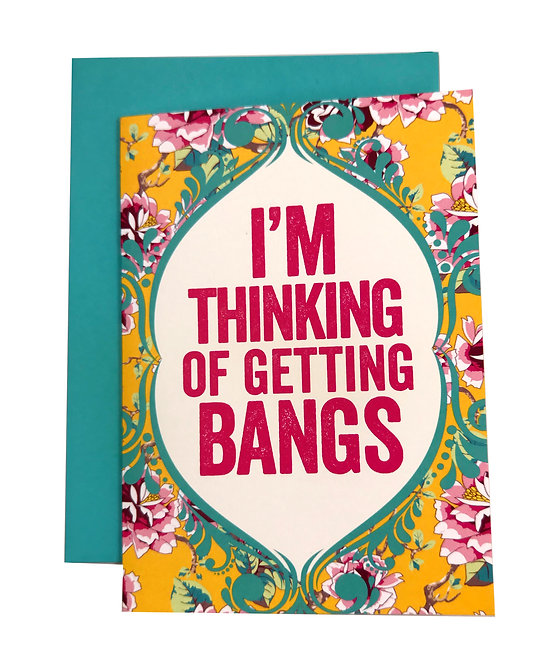 Getting Bangs Greeting Card