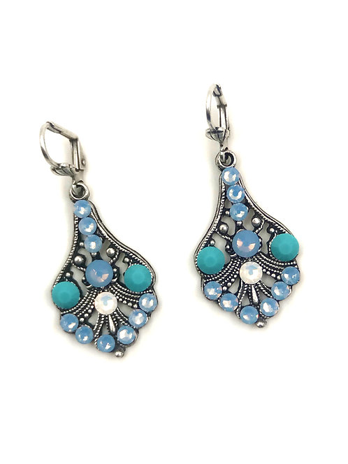 Dreamy Blue Swarovski Earrings