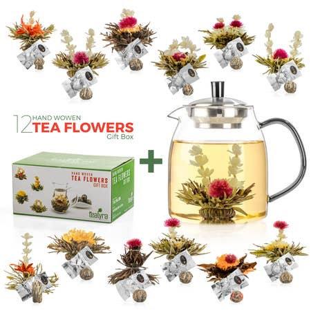 Blooming Tea Gift Set + 12 Blooming Teas