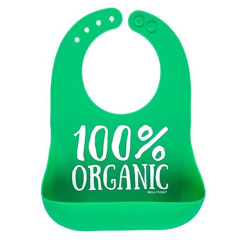 Organic Baby Bib Green
