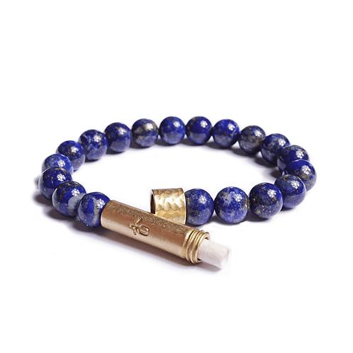 Polished Lapis Lazuli Wish Bracelet