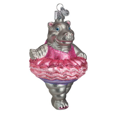 Twinkle Toes Hippo Ornament