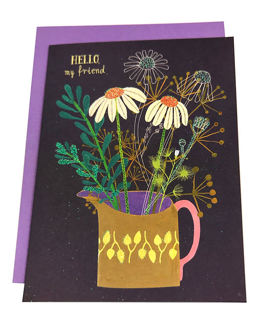 Hugs and Happy Blooms Card