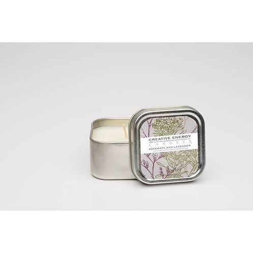 Mini Lotion Candle Tin Rosemary & Lavender