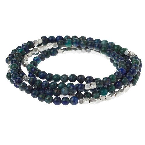 Azurite Stone Wrap Bracelet