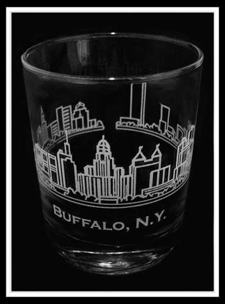 Buffalo Skyline Rocks Glass