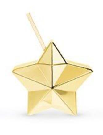 Star Drink Tumbler Gold